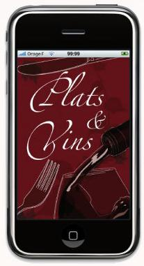 Application Iphone Plats et Vins