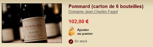 Boutique Grands Vins de Bourgogne du Domaine Jean-Charles Fagot