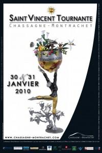 affiche de la Saint-Vincent tournante 2010 à Chassagne-Montrachet