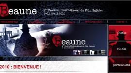 Nouvel habillage du site du Festival du Film International Policier de Beaune 2010