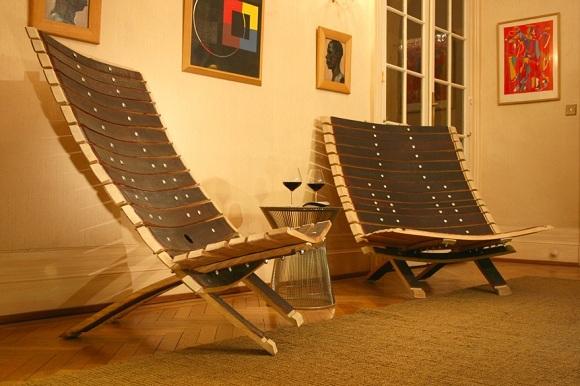 du mobilier design en recyclant des douelles de tonneau bourgogne live site d 39 information. Black Bedroom Furniture Sets. Home Design Ideas