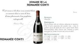 Site web du Domaine de la Romanée Conti