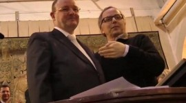 Jacques Boisseaux et Fabrice Luchini - 150e Vente des Vins des Hospices de Beaune 2010 miniature