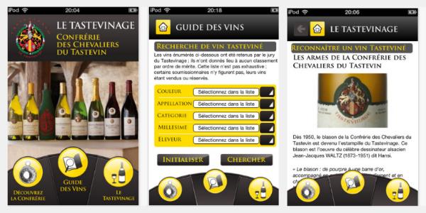 une application iphone gratuite pour le guide des vins de la confr rie des chevaliers du. Black Bedroom Furniture Sets. Home Design Ideas