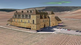Chateau Clos de Vougeot 3d google earth